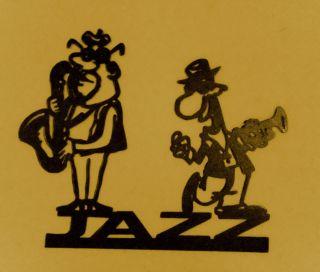 Jazz Music Saxs Metal Art Wall Decor New Orleans Musical Jazz Home