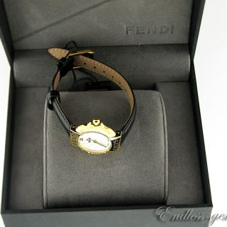 Fendi Ladies Leather Swiss Watch Registered Model F43241 430L White