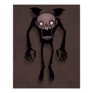 Vector cartoon illustration of a Nosferatu style vampire flying with