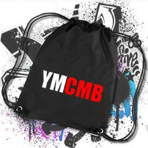 YMCMB Young Money Dope Obey Nylon Drawstring PE Swim Gym Sports