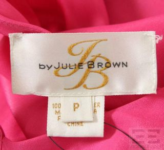 JB by Julie Brown Hot Pink Cutout Halter Dress Size P