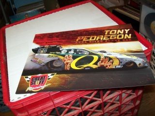 NHRA TONY PEDREGON Q GREAT STUFF RACING 2007 FUNNY CAR DRAG RACING