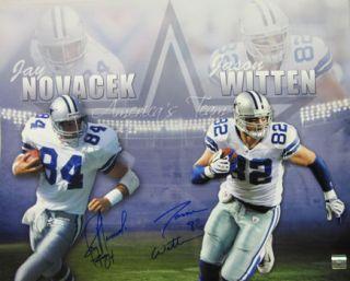 Jay Novacek Jason Witten Signed Dallas Cowboy 16x20