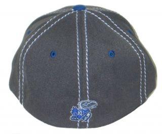 Kansas Jayhawks KU Mist Flex Fit Hat Cap L XL New