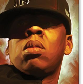 Jayz Jay Z Hip Hop Original Canvas Painting 30 x 18