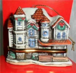 Lefton Colonial Village Christmas Tree Ornaments   One per Box   New