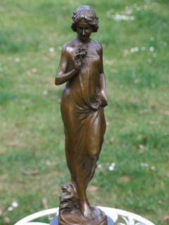 Lovely Signed Jean Patou Nouveau Bronze Statue