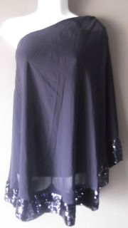 JB by Julie Brown Navy Evan One Shoulder Dress Cocktail Dress Size L