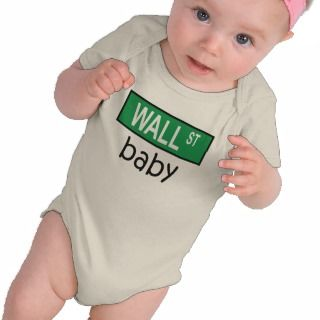 WALL STREET baby   t shirt
