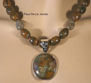 Jay King MINE FINDS Mongolian Copper Mountain Necklace & Pendant