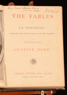 C1870 La Fontaine The Fables Gustave Dore Thornbury Translate