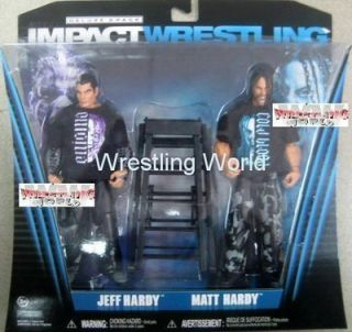 TNA EXCLUSIVE TWIST OF HATE Matt Jeff Hardy Wrestling Action Figures