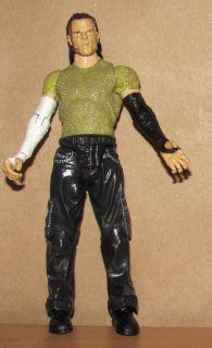 Jeff Hardy Jakks WWE R3 Tech Figure WWF Wrestling Lot RARE Green Shirt
