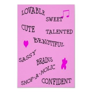 Cute and creative poster for any teenage or preteen girls bedroom!