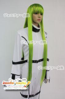 Code Geass C C Cosplay Wig Costume 100cm