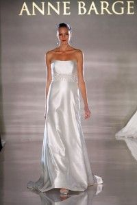 Authentic Anne Barge La Fleur LF184 Silk Shantung Aline Couture Bridal