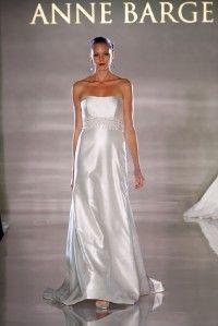 Authentic Anne Barge La Fleur LF184 Silk Shantung Aline Couture Bridal