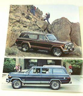 1982 82 Jeep Cherokee Truck SUV Brochure Chief Laredo