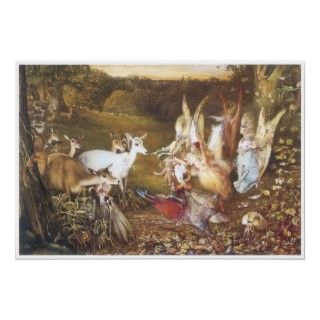 Elves And Fairies A Midsummer Nights Dream Print
