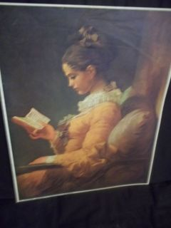 Litho Print 57 A Young Girl Reading by Jean Honore Fragonard