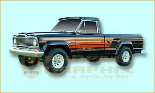 1979 1980 Jeep Honcho J10 Townside Truck Decal Stripe Kit