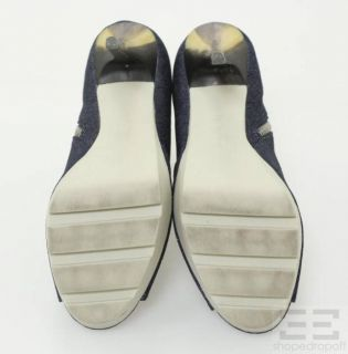 Jean Michel Cazabat Dark Denim Platform Stiletto Heel Latisha