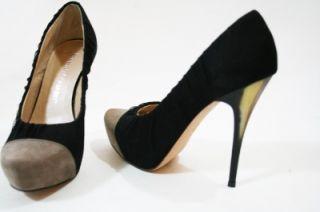 Auth Jean Michel Cazabat 2 Tones Blk Pumps Shoe 37 7 $525