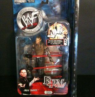 WWF RARE Jakks Jeff Hardy Fatal 4 Way Figure WWE