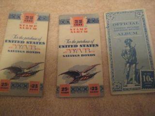 World War II United States Stamp War Bond Book with 29 Stamps War