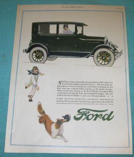 1926 Ford Tudor Sedan Car Ad 20