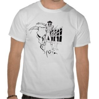 Spain corrida cool graphic art t shirt design