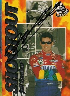 Jeff Gordon autographed PRESS PASS 2000 SHOOTOUT NASCAR DUPONT WINSTON