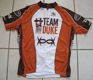 Giordana Mens John Wayne Cycling Jersey Team Duke Brown Orange Bike