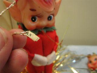 Items Vintage Japan Felt Knee Huggers Elf Pixie Christmas Lot Tree