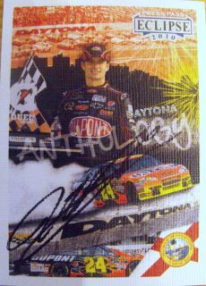Jeff Gordon Hand Signed 2010 Press Pass Eclipse Daytona Trading Card