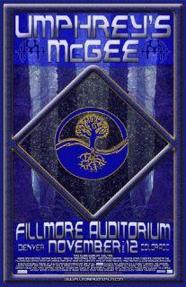 Umphreys McGee Original Fillmore Concert Poster