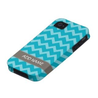 Funky Chevron Zig Zag Pattern with name iPhone 4/4S Cover
