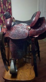 Cowboy Collection Custom Made Jeff Smith Team Roping Saddle 15 5 Seat