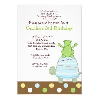 Frog Birthday Invitations, 450 Frog Birthday Announcements & Invites