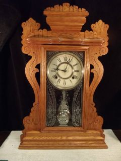 Antique Ansonia Jessup Kitchen Shelf Clock CA 1890s 8 Day Strike