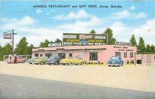 GA Jesup Mimosa Restaurant Gift Shop Gas Station R13977