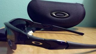 Oakley Flak Jacket Jet Black Sunglasses w Black Iridium Lenses