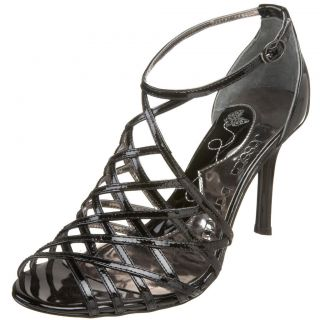 Jessica Bennett Monroe Black Patent Leather Sandal