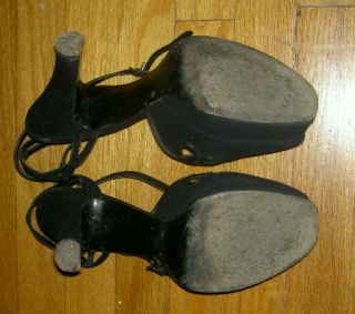 Jenna Fischer Black Suede Heels Shoes Worn in Walk Hard The Dewey Cox