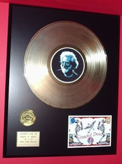 Jerry Garcia Art LP Gold Record Limited Edition Collectible Classic R
