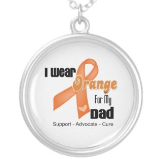 Wear an Orange Ribbon For My Dad Necklace
