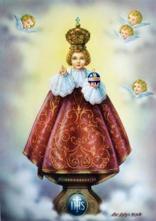 Catholic Italian Print Picture Infant Jesus of Prague