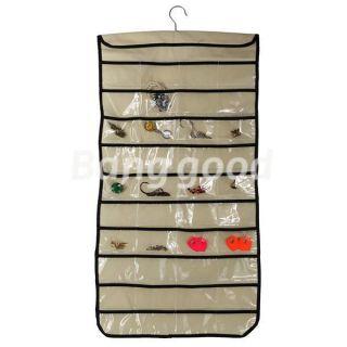 80 Pocket Jewelry Hanging Storage Organizer Bag Multipurpose Display
