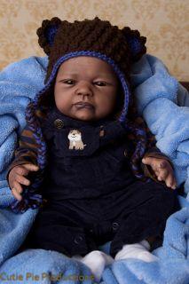 Reborn AA/Ethnic/African American Baby Boy HTF Beau Sculpt by Jannie