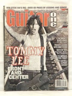 Guitar One Magazine Tommy Lee Jerry Cantrell Slipknot